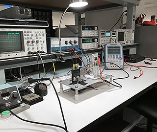 Photo of equipment bench
